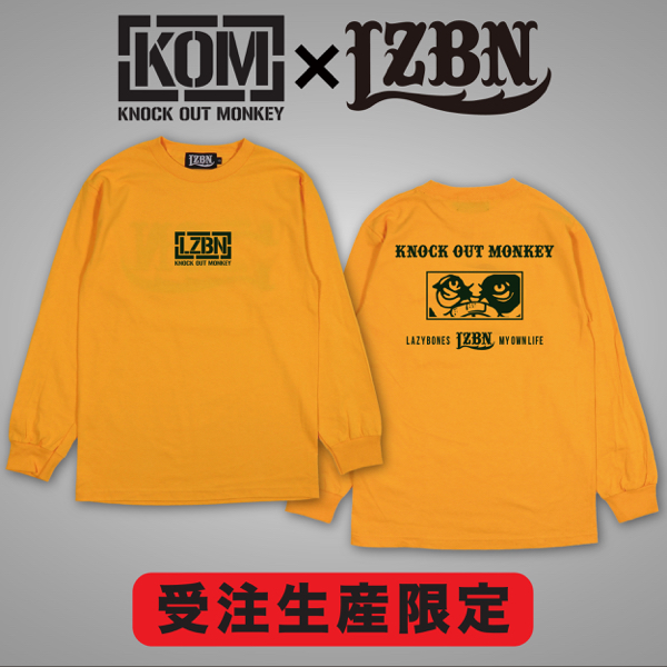 【受注生産限定】KOM × LZBN / L/S TEE (GOLD/DARK GREEN)