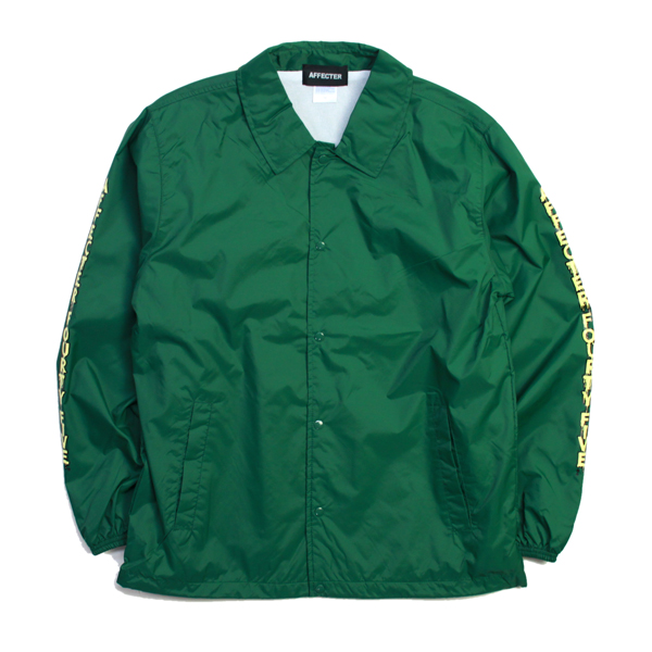 AFFECTER / DRIPIN' COACH JKT (GREEN)
