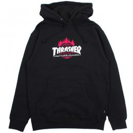 THRASHER X HUF / TOUR DE STOOPS HOOD (BLACK)