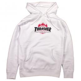 THRASHER X HUF / TOUR DE STOOPS HOOD (WHITE)