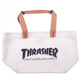 THRASHER X HUF / CANVAS TOTE (WHITE)