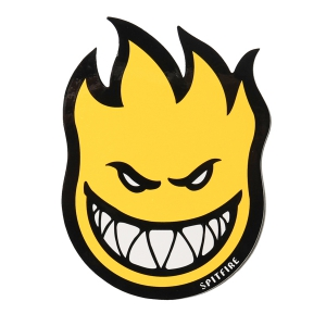 SPITFIRE / FIREBALL STICKER MEDIUM (YELLOW)