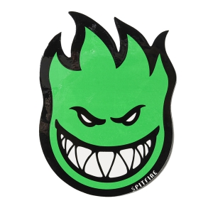 SPITFIRE / FIREBALL STICKER MEDIUM (GREEN)