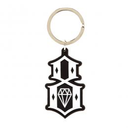 REBEL8 / RUBBER LOGO KEY CHAIN (BLACK)