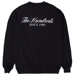 THE HUNDREDS / RICH LOGO CHAMPION CREWNECK SWEAT (BLACK)