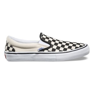 "VANS / SLIP-ON PRO (""CHECKERBOARD""BLACK/WHITE)"