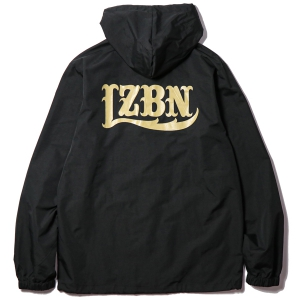 LZBN / LZBN BACK LOGO HOODED COACHES JACKET (BLACK)