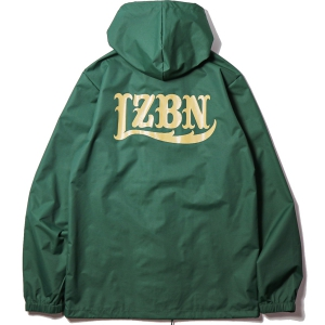 LZBN / LZBN BACK LOGO HOODED COACHES JACKET (FOREST GREEN)
