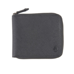 NIXON / CIRCUIT ZIP WALLET (BLACK/CAMEL)