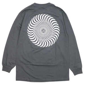 SPITFIRE / CLASSIC SWIRL L/S TEE (CHARCOAL)