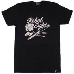 REBEL8 / ROSES AND DAGGERS SOFT TEE (BLACK)
