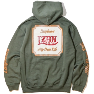 LZBN / CLASSICAL PULLOVER HOODIE (MILITARY GREEN)