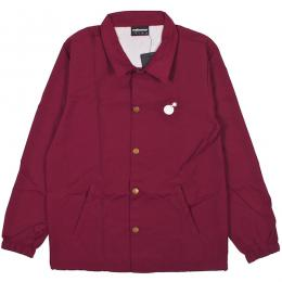 THE HUNDREDS / FOREVER BAR LOGO COACHES JACKET (BURGUNDY)