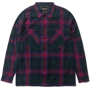 THE HUNDREDS / SHADES BUTTON-UP SHIRT (HUNTER GREEN)