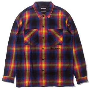 THE HUNDREDS / SHADES BUTTON-UP SHIRT (BLACK)
