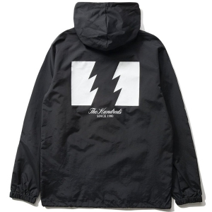 THE HUNDREDS / FOREVER WILDFIRE HOODED COACH'S JACKET (BLACK)