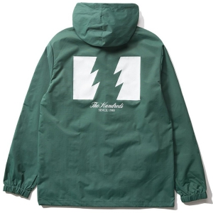 THE HUNDREDS / FOREVER WILDFIRE HOODED COACH'S JACKET (FOREST)