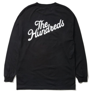 THE HUNDREDS / FOREVER SLANT CREST L/S TEE (BLACK)