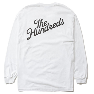 THE HUNDREDS / FOREVER SLANT CREST L/S TEE (WHITE)