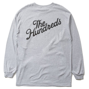 THE HUNDREDS / FOREVER SLANT CREST L/S TEE (ATHLETIC HEATHER)