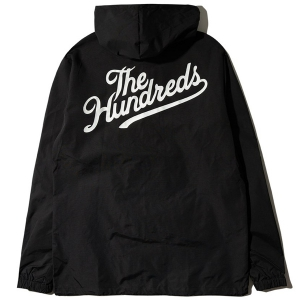 THE HUNDREDS / FOREVER SLANT HOODED COACH'S JACKET (BLACK)