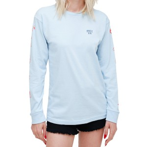 OBEY / SHE SALVAGE L/S TEE (POWDER BLUE)