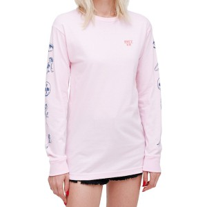 OBEY / SHE SALVAGE L/S TEE (PINK)