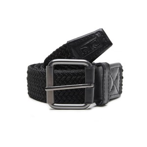 OBEY / ICON BRAIDED ELASTIC BELT (BLACK)