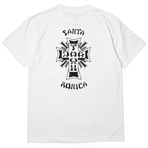 DOGTOWN / CROSS LOGO X SANTA MONICA TEE (WHITE)