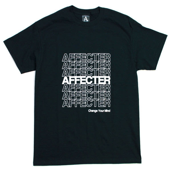 AFFECTER / THANX S/S TEE (BLACK)
