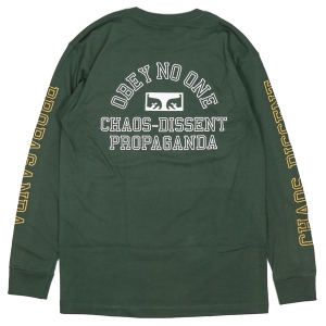 OBEY / OBEY NO ONE EYES BASIC L/S TEE (FOREST GREEN)