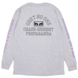 OBEY / OBEY NO ONE EYES BASIC L/S TEE (H.GREY)