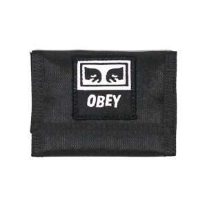 OBEY / DROP OUT TRI- FOLD WALLET (BLACK)