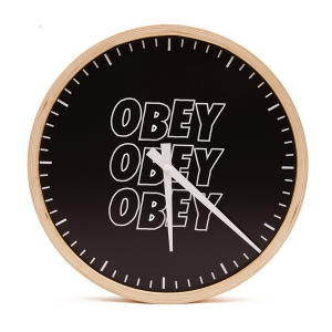 OBEY / JUMBLE STACKS CLOCK (BLACK)