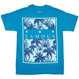 FAMOUS STARS AND STRAPS / TROPICAL BOX  TEE (TURQUOISE)