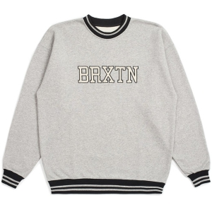 BRIXTON / NEWARK CREW FLEECE (HEATHER GREY)