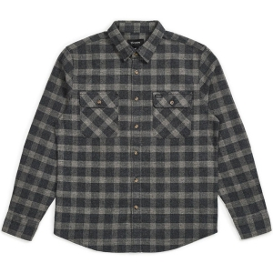 BRIXTON / BOWERY L/S FLANNEL SHIRT (BLACK/HEATHER GREY)