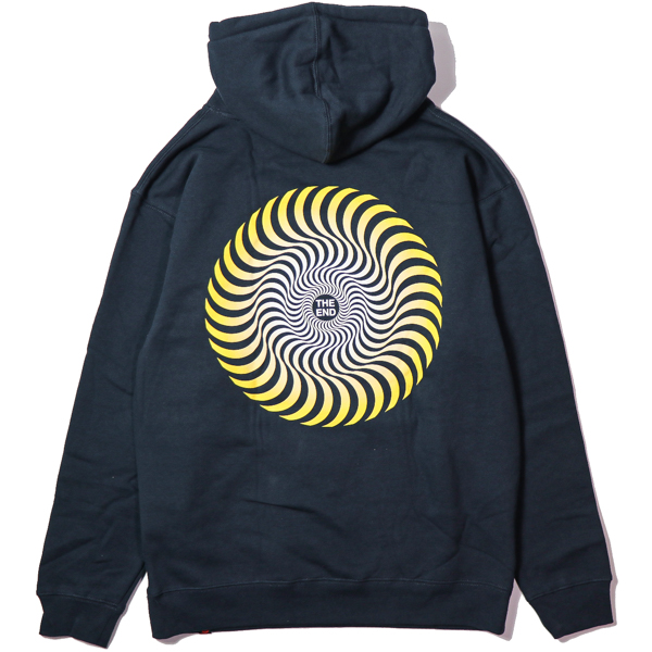 SPITFIRE / CLASSIC SWIRL FADE PULLOVER HOODIE (SLATE BLUE)
