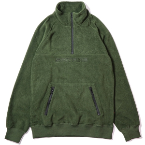 SPITFIRE / WALLER MOCK NECK POLAR FLEECE (OLIVE)