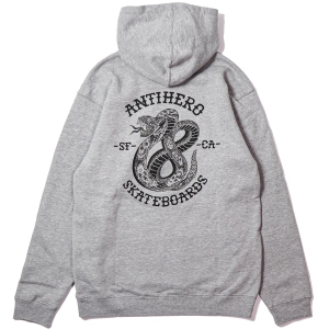 ANTIHERO / EIGHTEEN PULLOVER HOODIE (HEATHER GREY)