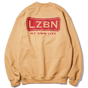 LZBN / BENT CREWNECK SWEAT (OLD GOLD)