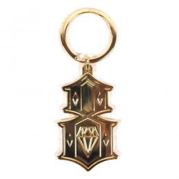 REBEL8 / METAL 8 KEYCHAIN (GOLD)