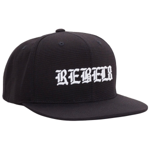 REBEL8 / DISPLACED SNAPBACK CAP (BLACK)