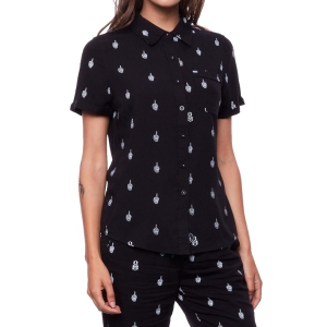 REBEL8 / WOMENS SKEPTIC BUTTON-UP SHIRT (BLACK)