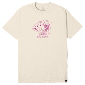 REBEL8 / DEALER TEE (CREAM)