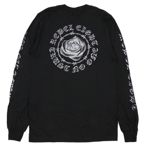 REBEL8 / WOMENS TRUST NO ONE L/S TEE (BLACK)