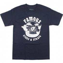 FAMOUS STARS AND STRAPS / MERMAID TEE (NAVY)