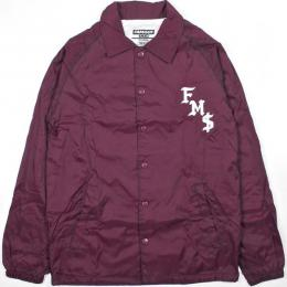 FAMOUS STARS AND STRAPS / FMS SICKSTEP COACHES JACKET (BURGUNDY)