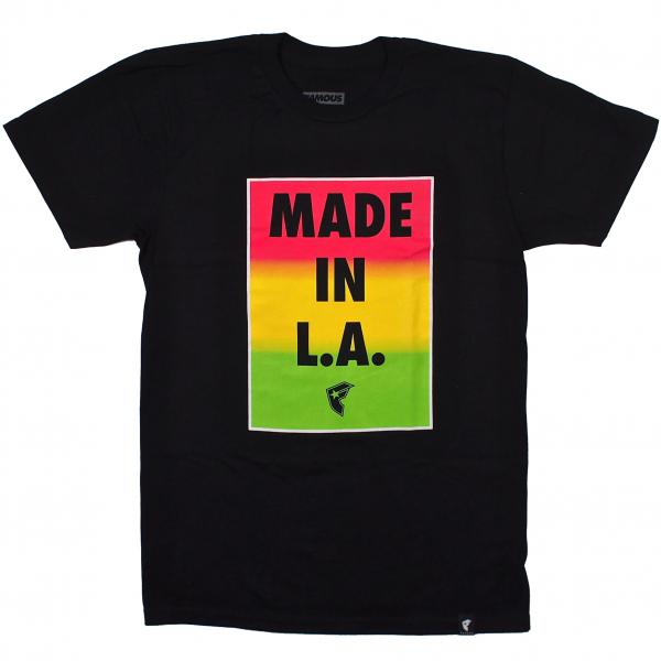 FAMOUS STARS AND STRAPS / MADE IN LA TEE (BLACK)