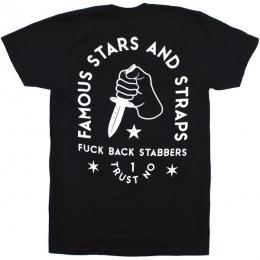 FAMOUS STARS AND STRAPS / BACK STABBERS TEE (BLACK)